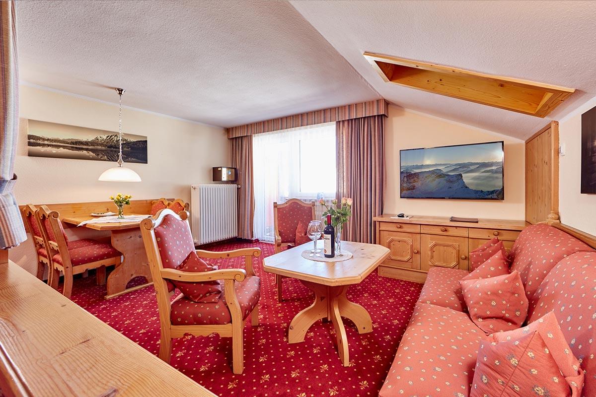 Doppelzimmer Superior 2 Personen Wohnbereich Hotel Franziska In